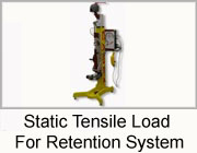 Static Tensile Load For Retention System